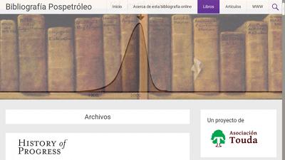 Captura de Bibliografia.pospetroleo.com